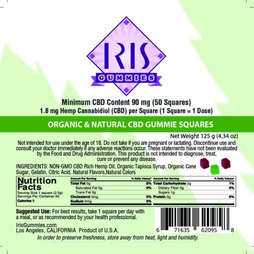 Iris Gummies Organic and Natural CBD edibles