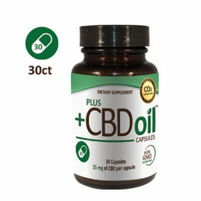 Plus CBD Capsules 30 count - Vegan, Kosher, Non GMO