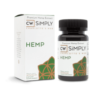 cw simply hemp CBD capsules 15mg 30 count