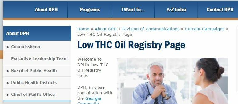 Georgia To Begin Low-THC Oil Registry