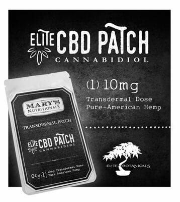 Mary's Nutritionals Elite CBD Transdermal Patch