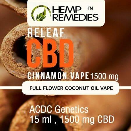 hemp remedies 1500mg cinnamon vape oil