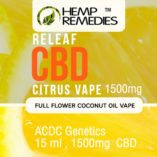 Hemp Remedies Citrus CBD Vape Oil 1500mg