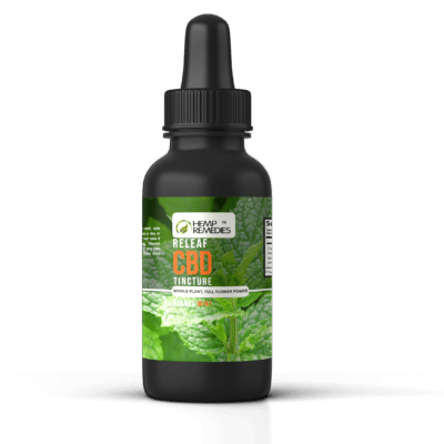 Hemp Remedies ReLeaf CBD Tincture Mint 1000mg