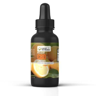 Hemp Remedies ReLeaf CBD Tincture Lemon 500mg
