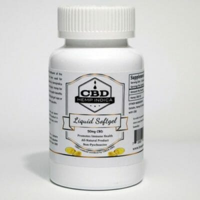 CBD Hemp Indica 50mg gel caps