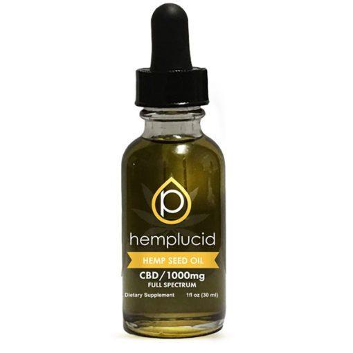 hemplucid hempseed oil 1000mg CBD drops